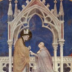 Simone Martini, St Martin of Tours and Cardinal Gentile da Montfiore, 1317, Assisi, St Martin Chapel, San Francesco, Lower Church.
