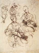 Raphael, Studies of the Virgin and Child, c. 1507, London, British Library.