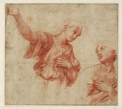 Raphael, Study of Two Angels, 1517/18, Haarlem, Teylers Museum.