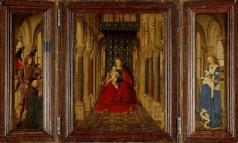 Jan van Eyck, Madonna and Child Enthroned, 1437, Dresden, Staatliche Kunstsammlung