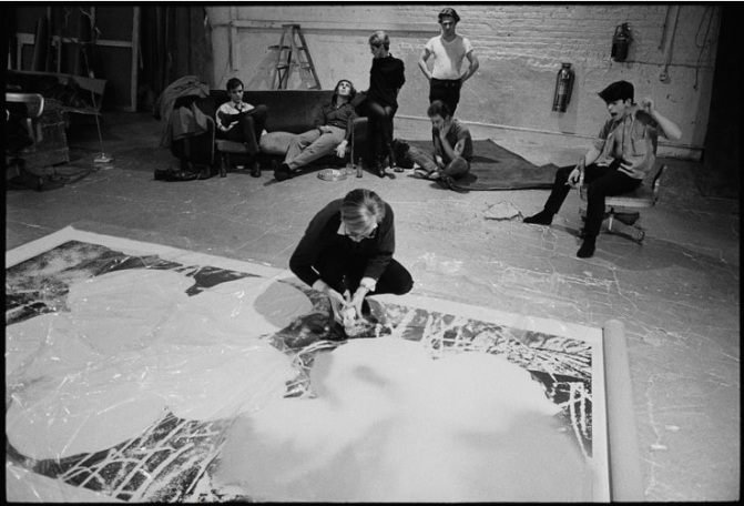 ACTION PAINTING: Andy Warhol at Work