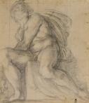 Annibale Carracci, Study for an Ignudo