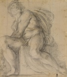 Annibale Carracci, Study for an Ignudo