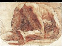 After Annibale Carracci, Supplicant, red chalk and charcoal, c. 1598,