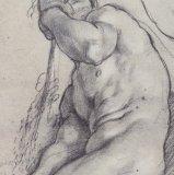 Annibale Carracci, A Seated Ignudo, 1598/99. Black chalk, Paris, Louvre.