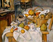 Paul Cézanne, Still Life with Fruit Basket, 1886/87, Paris, Musée d'Orsay.
