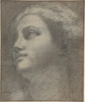 Annibale Carracci, Head of a woman, 1590-1600, Charcoal, highlighted with white chalk, New York, Metropolitan Museum of Art.