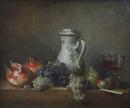 Jean-Siméon Chardin, Raisins et grenades, 1763, Paris, Musée du Louvre.
