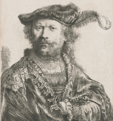 Rembrandt-Self-Portrait-with-Plume