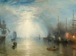 .M.W. Turner, Keelmen Heaving in Coals by Moonlight, 1835, Washington DC, National Gallery of Art.