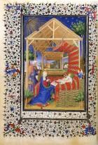 Boucicaut Master, Nativity, Boucicaut Hours, c.1400, Paris, Musée Jacquemart-André Ms. 2, fol. 73v.