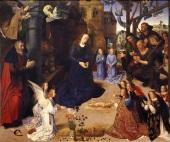 Hugo van der Goes, Adoration of the Shepherds (Portinari Altarpiece), 1475, Florence, Galleria degli Uffizi
