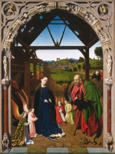 Petrus Christus, Nativity, 1445, Washington DC, National Gallery of Art.