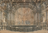 Painted backdrop scrim used in Markgräfliches Opernhaus, 1771