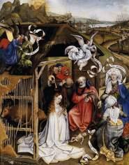Robert Campin, Nativity, c.1425, Dijon, Musée des Beaux Arts.