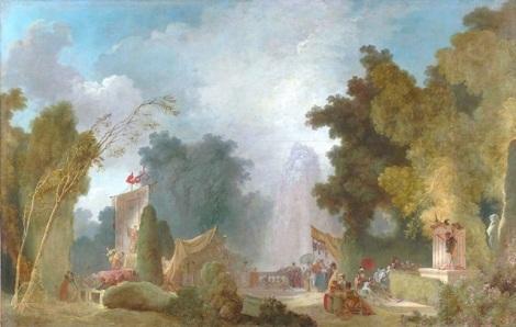 Jean-Honoré Fragonard, La Fête à Saint Cloud, 1775/80, Paris, Banque de France.