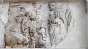 Aeneas makes a sacrifice